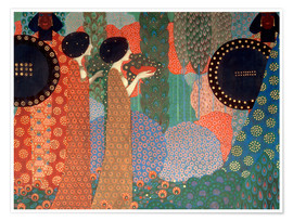 Premium poster  The princesses and warriors - Vittorio Zecchin