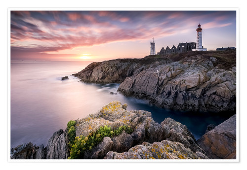 Premium poster Lighthouse of St Mathieu (France / Brittany)