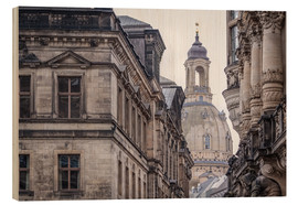 Wood print  Overlooking the Frauenkirche in Dresden (Germany) - Christian Müringer