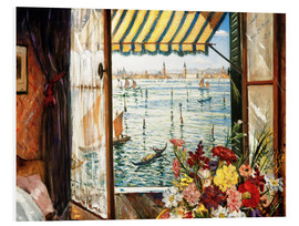 Forex  Looking out a window in Venice - Christopher Nevinson