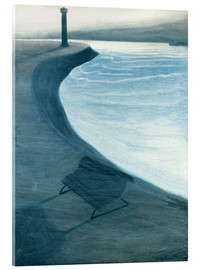 Acrylic print  The dike, Ostend - Léon Spilliaert
