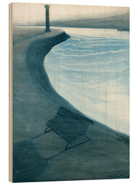 Wood print  The dike, Ostend - Léon Spilliaert