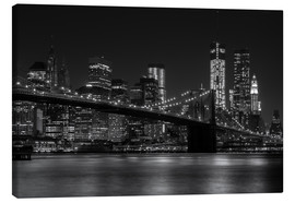 Canvas print  Brooklyn Bridge at Night - Thomas Klinder