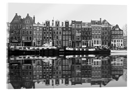 Acrylic print  Reflections of Amsterdam - George Pachantouris