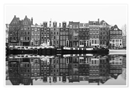 Premium poster  Reflections of Amsterdam - George Pachantouris