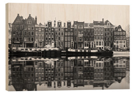 Wood print  Reflections of Amsterdam - George Pachantouris