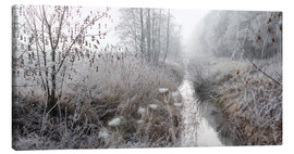 Canvas print  Morning mist and from over landscape - Lichtspielart