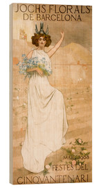 Wood print  Yoke Florals de Barcelona - Ramon Casas i Carbo