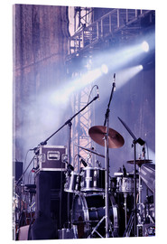 Acrylic print  Drums in the spotlight