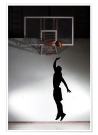 Poster  Silhouette of a basketball player