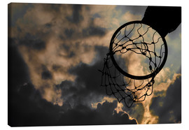 Canvas print  Basketball hoop and sky