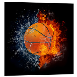Acrylic glass  Basketball in the battle of the elements