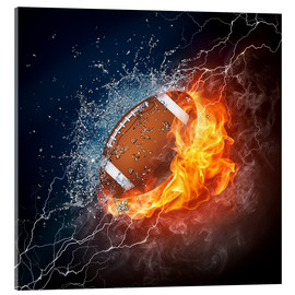 Acrylic print  The power of Football