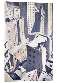 Acrylic print  Looking Down on Downtown - Christopher Nevinson