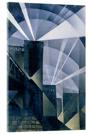 Acrylic glass  The First Searchlights at Charing Cross - Christopher Nevinson