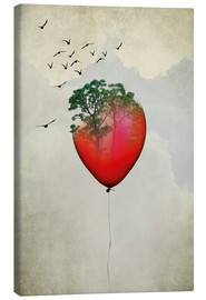 Canvas print  Red balloon - Amy and Kurt