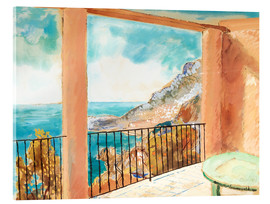 Acrylic print  View from the terrace, Mediterranean - Isaac Grünewald