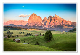 Premium poster  Seiser Alm, South Tyrol - Frank Fischbach