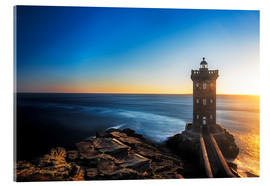 Acrylic print  Lighthouse in Brittany - Frank Fischbach
