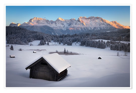 Premium poster Geroldsee at wintertime, Bavarian , Germany