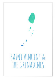 Premium poster Saint Vincent & the Grenadines