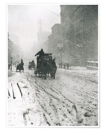 Premium poster Winter - Fifth Avenue
