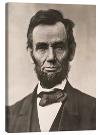 Canvas print  Abraham Lincoln - Mathew Brady