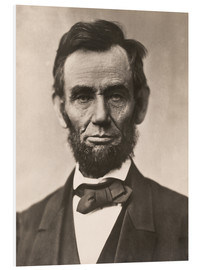 Foam board print  Abraham Lincoln - Mathew Brady
