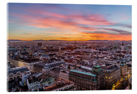 Acrylic glass  Vienna Skyline at sunset, Austria - Mike Clegg Photography