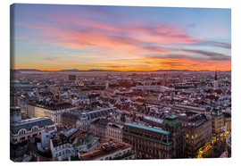 Canvas print  Vienna Skyline at sunset, Austria - Mike Clegg Photography