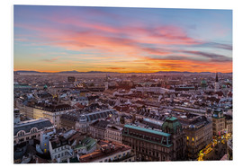 Foam board print  Vienna Skyline at sunset, Austria - Mike Clegg Photography