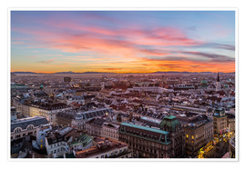 Premium poster  Vienna Skyline at sunset, Austria - Mike Clegg Photography