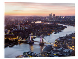 Acrylic print  Colourful sunsets in London - Mike Clegg Photography