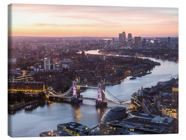 Canvas print  Colourful sunsets in London - Mike Clegg Photography