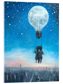 Acrylic print  Our love will light the night - Adrian Borda