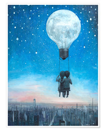 Premium poster  Our love will light the night - Adrian Borda