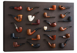 Canvas  Collection of smoking pipes - Elisabeth Cölfen