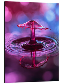 Aluminium print  High-speed water droplets with Bokeh - Stephan Geist
