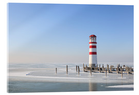 Acrylic print  Lighthouse on frozen Lake Neusiedl - Gerhard Wild