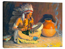 Canvas print  The chief song - Eanger Irving Couse