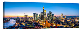 Canvas print  Skyline panorama from Frankfurt - Jan Christopher Becke
