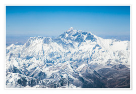 Premium poster  Aerial view of Mount Everest in the Himalaya - Matteo Colombo