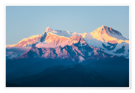 Premium poster  Annapurna mountain range at sunset, Nepal - Matteo Colombo