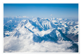 Premium poster Aerial view of mount Everest, Himalaya