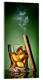 Acrylic print  Cigar on the rocks