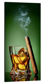 Aluminium print  Cigar on the rocks