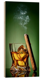 Wood print  Cigar on the rocks