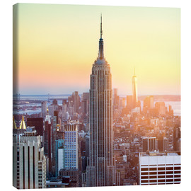 Canvas print  Empire State Building in New York City at sunset - Jan Christopher Becke