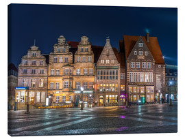 Canvas print  Gabled houses Marktplatz Bremen - Rainer Ganske