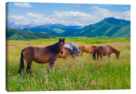 Canvas print  Flowery pasture